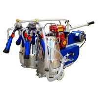Portable (motor Cum Engine) Double Bucket Milking Machine