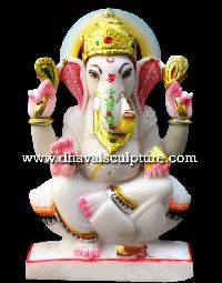 Ganpati Statue Seated On Lotus