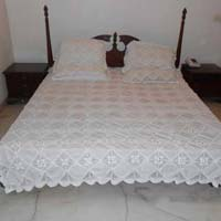 Linen Lace Bed Cover