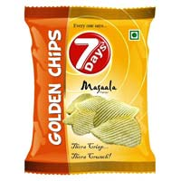 7 Days Golden Potato Chips - Masala