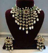 Imitation Navratna Jewelry Set