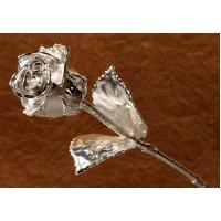 "Silver Plated Rose (11"")"