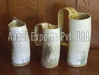 Horn wooden base mugs