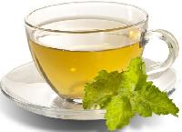 Green Tea With Peppermint And Lemon Peels