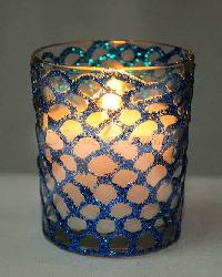 Hand Design Glass Aroma Candle