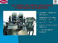 Automatic Spot Welding Checking & Sorting Projects