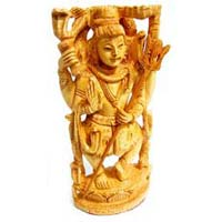 Wooden Lord Shiva Statue