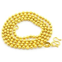 Gold Beaded Chains