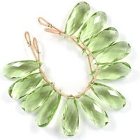 Green Amethyst Beads