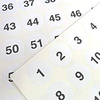 Numbering Stickers