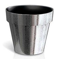 Silver Flower Pot