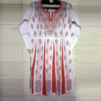 Chikan Embroidered Kurtis