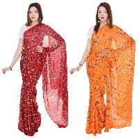 Synthetic Crepe Sarees