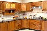 Teak Wood Modular Kitchen