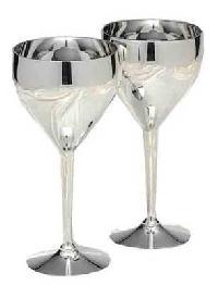 Silver Wine Glass