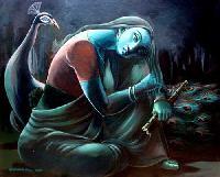 Meera Bai Painting