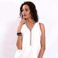 Sleeveless Cotton Kurtis