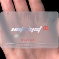 Plastic Transparent Card