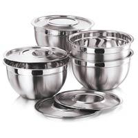 White Metal Bowl Set