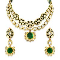 Diamond Polki Necklace Set