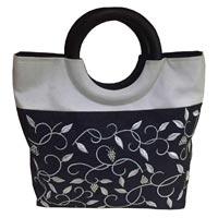 Embroidered Silk Handbag