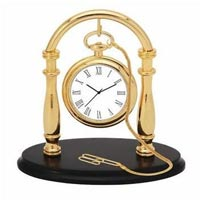 Gold Plated Clock