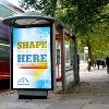 Bus Shelter Advertisement
