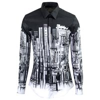 Men Printed Cotton Shirt
