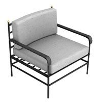 Iron Arm Chair