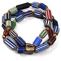 Chevron Glass Beads