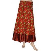 Silk Wrap Around Skirts