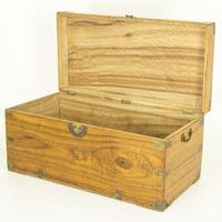 Antique Wooden Trunk Box