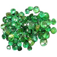 Faceted Emerald Beads
