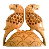 Wooden Bird Statue
