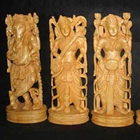 Wooden God Statues
