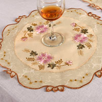Embroidered Mats