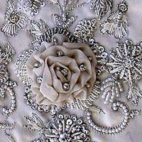 Embroidered Satin Fabrics