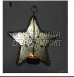 Handmade Wirework Star Tea Light Candle (1125)