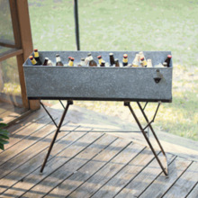 Galvanized Drink Tub With Stand