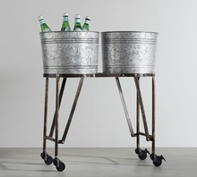 Galvanized Iron Double Beverage Tub