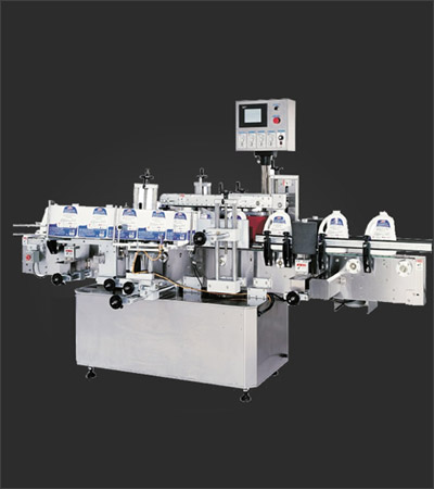 Front Back Labeler with Wrap Station Machine