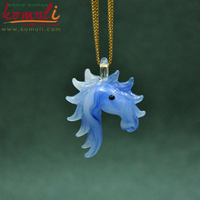 horse head glass pendant