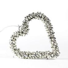 Silver heart flat metal