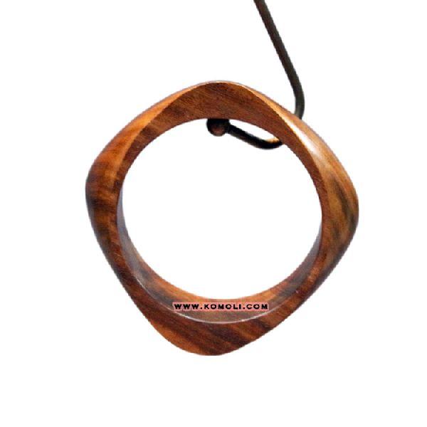 square shape handmade wooden bangle