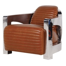 leather Chrome Armchair