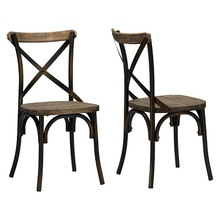 metal cross back chair