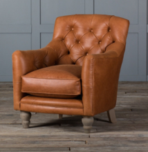 TUFTED GLOVE LEATHER CHAIR