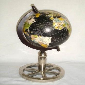 Antique Metal Globe