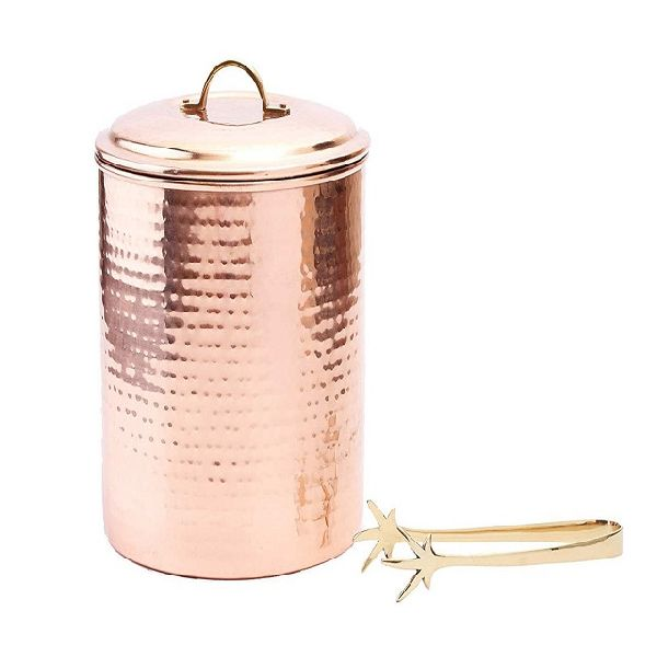 copper plated hammered  bucket