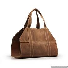 leather bag log holder